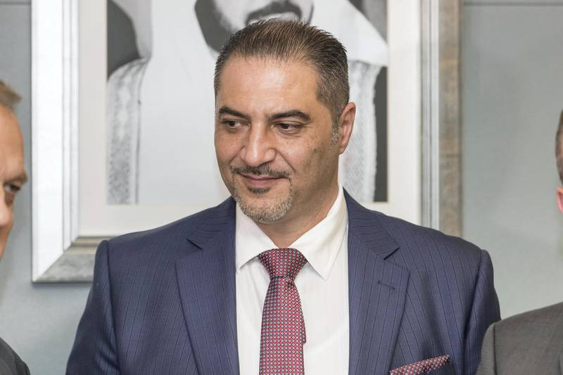 ABU DHABI, UNITED ARAB EMIRATES. 26 November 2017. Trade Bank of Iraq (TBI), a leading Government Bank in Iraq, opened a representative office at the Abu Dhabi Global Market. This expansion represents its first premises outside Iraq as a part of its regional expansion plan. Mr Mr. Faisal Al Haimus, Chairman of TBI. (Photo: Antonie Robertson/The National) Journalist: Samrad Khan. Section: Business.