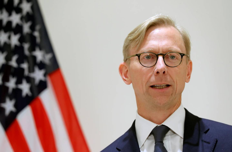 Brian Hook, U.S. Special Representative for Iran, speaks at a news conference in London, Britain June 28, 2019. REUTERS/Simon Dawson