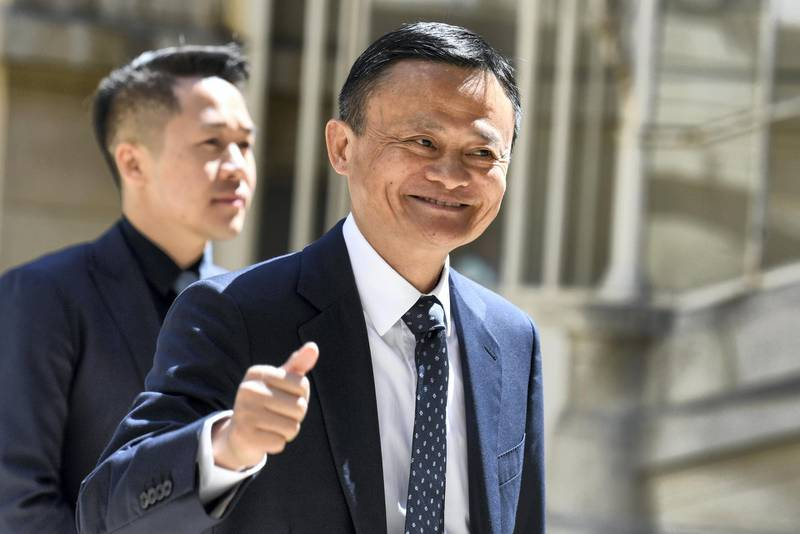 """Jack Ma, co-founder and executive chair of the Alibaba Group, arrives for the """"Tech For Good"""" meetup  at Hotel Marigny in Paris on May 15, 2019, held to discuss good conduct for technology giants. - French President and New Zealand's premier will host other world leaders and leading tech chiefs to launch an ambitious new initiative known as the """"Christchurch call"""" aimed at curbing extremism online. The political meeting will run in parallel to an initiative launched by the French President called """"Tech for Good"""" which will bring together 80 tech chiefs in Paris to find a way for new technologies to work for the common good. (Photo by Bertrand GUAY / AFP)"""
