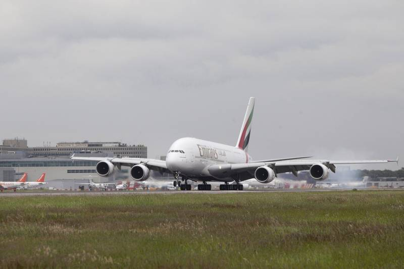 An Emirates Airlines A380 at Gatwick International Airport. Courtesy Gatwick Airport Limited