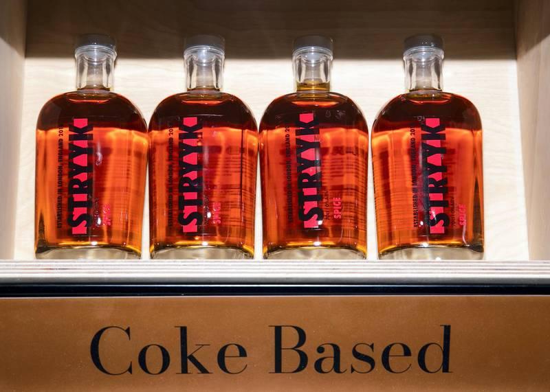 DUBAI, UNITED ARAB EMIRATES. 13 JANUARY 2021. Spinneys now stocks non-alcoholic spirits.(Photo: Reem Mohammed/The National)Reporter:Section:
