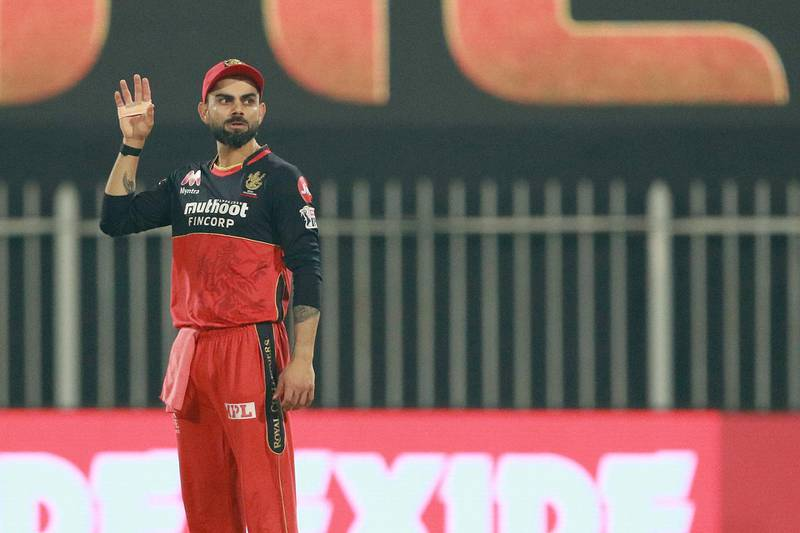 Virat Kohli captain of Royal Challengers Bangalore during match 52 of season 13 of the Indian Premier League (IPL ) between the Royal Challengers Bangalore and the Sunrisers Hyderabad held at the Sharjah Cricket Stadium, Sharjah in the United Arab Emirates on the 31st October 2020.  Photo by: Rahul Gulati  / Sportzpics for BCCI