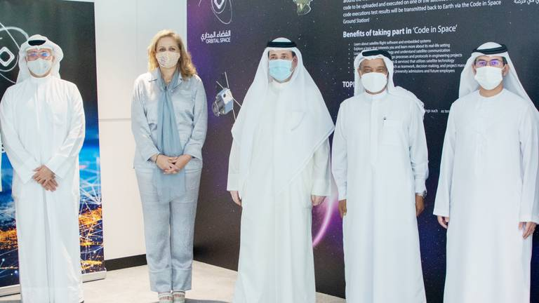 An image that illustrates this article Dubai launches ground station for students to test code on live satellites in orbit
