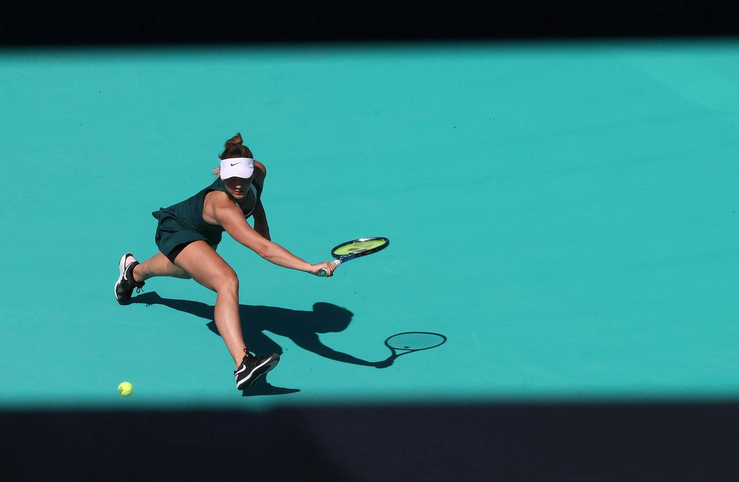 ABU DHABI, UNITED ARAB EMIRATES - JANUARY 09:  Marta Kostyuk of Ukraine in action against Su-Wei Hsieh of of Taiwan during her Women's Singles match on Day Four of the Abu Dhabi WTA Women's Tennis Open at Zayed Sports City on January 09, 2021 in Abu Dhabi, United Arab Emirates. (Photo by Francois Nel/Getty Images)