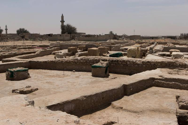 Ras al Khamiah, United Arab Emirates, April 25, 2017:    The mosque area of Jazirat Al Hamra heritage village and archaeological site in Ras al Khamiah on April 25, 2017. The site is the only and best preserved traditional coastal town in the Gulf region. Christopher Pike / The National  Job ID: 27017 Reporter: Ruba Haza Section: News Keywords:  *** Local Caption ***  CP0425-na-Jazirat Al Hamra-05.JPG