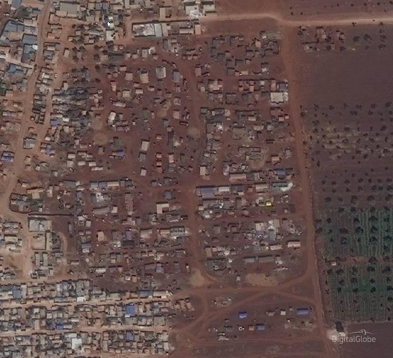 Idlib Displacement Camp A. This image was taken on 26/09/2018. Courtesy Digital Globe