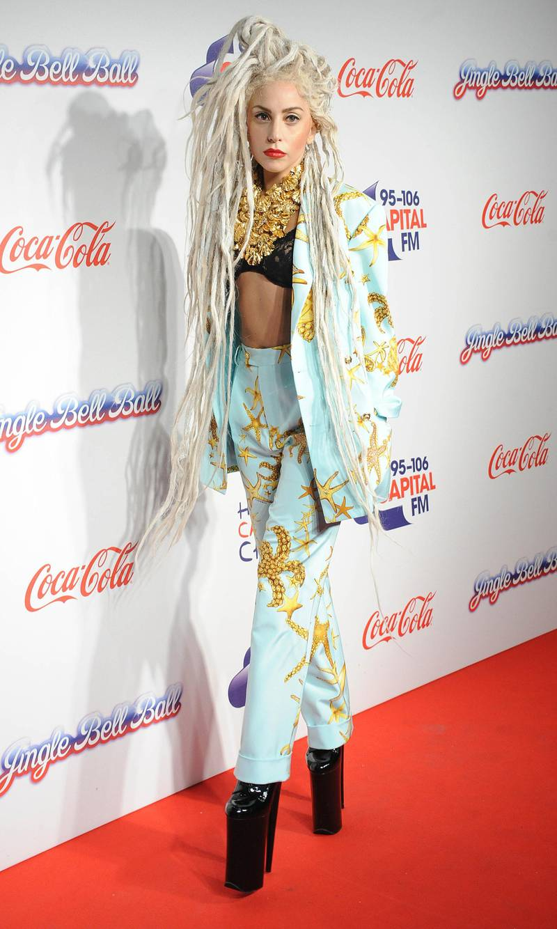 LONDON, UNITED KINGDOM - DECEMBER 08: Lady GaGa attends on day 2 of the Capital FM Jingle Bell Ball at 02 Arena on December 8, 2013 in London, England. (Photo by Stuart C. Wilson/Getty Images)