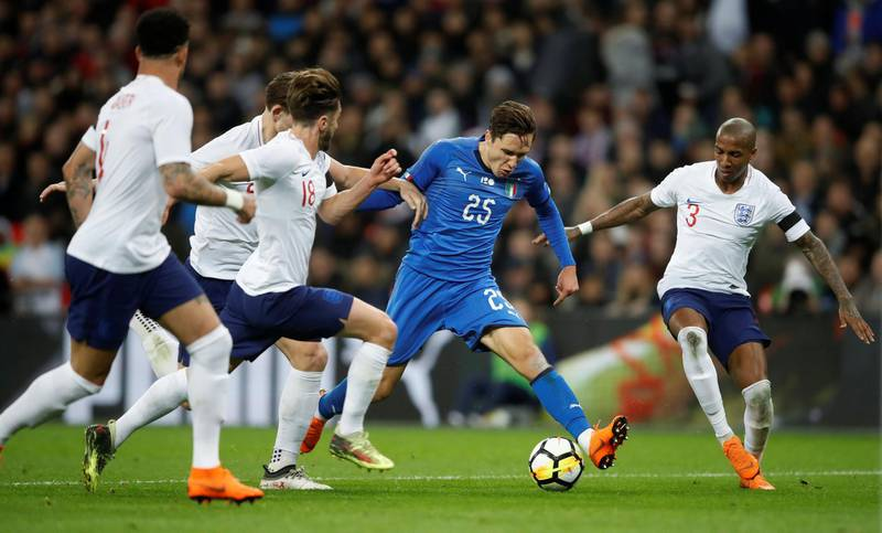 Soccer Football - International Friendly - England vs Italy - Wembley Stadium, London, Britain - March 27, 2018   Italy's Federico Chiesa in action              Action Images via Reuters/Carl Recine