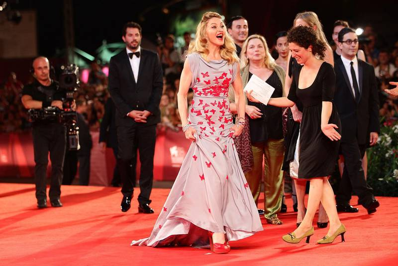 VENICE, ITALY - SEPTEMBER 01:  Madonna attends the 'Carnage' premiere during the 68th Venice Film Festival at Palazzo del Cinema on September 1, 2011 in Venice, Italy.  (Photo by Vittorio Zunino Celotto/Getty Images for Lancia)