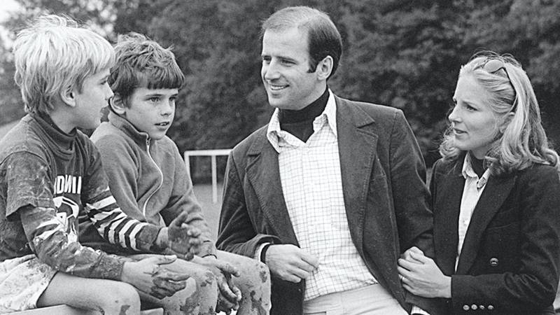In this image obtained from the official website of US Senator Joseph Biden, shows the Senator (C) with his sons Beau (L) and Hunter and his future wife Jill in an undated photo. Democratic White House hopeful Barack Obama on August 23, 2008 officially announced that he has chosen Senator Joseph Biden as his vice presidential pick.  AFP PHOTO/HO  = GETTY OUT = (Photo by Senator Joseph Biden / AFP)
