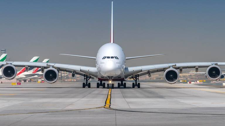 An image that illustrates this article Emirates to fly A380 superjumbo to 19 cities this autumn