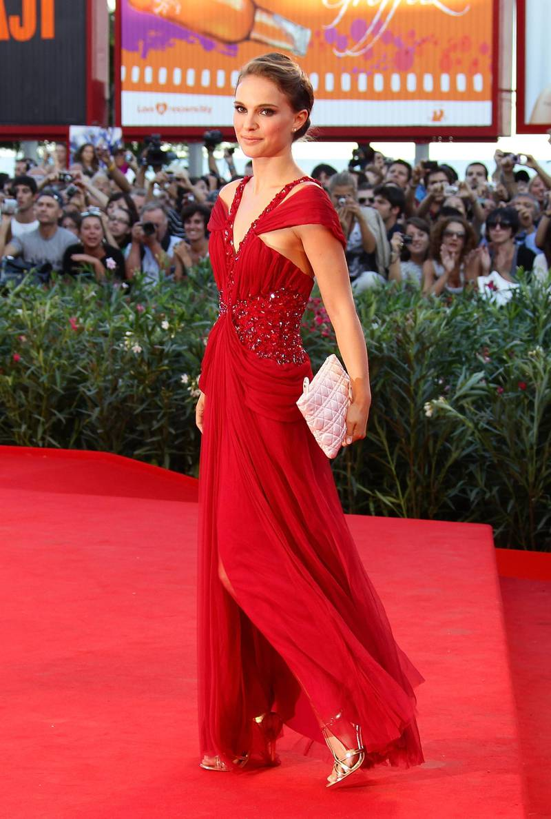 VENICE, ITALY - SEPTEMBER 01:  Natalie Portman attends the Lancia On The Red Carpet At 67th Venice Film Festival at Palazzo del Cinema on September 1, 2010 in Venice, Italy.  (Photo by Vittorio Zunino Celotto/Getty Images)