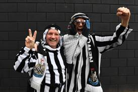 Newcastle fans welcome new Saudi owners at St James' Park party