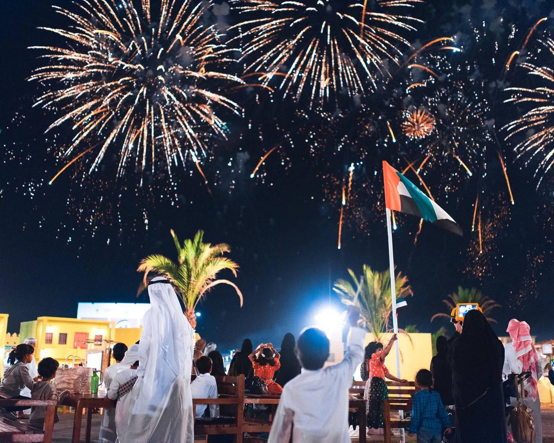 A handout photo of the fireworks at Sheikh Zayed Heritage Festival in Al Wathba, Abu Dhabi (Courtesy: Sheikh Zayed Heritage Festival) *** Local Caption ***  al19no-zayed-festival05.jpg