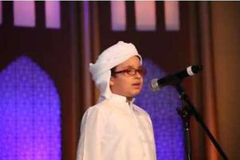 August 22, 2010-Provided photo of Ibrahim Muneer, 6 years old,  who spoke durinfg the Ramadan Forum which is organized by Dubai Department of Tourism and Commerce Marketing ÔDTCM' Courtesy DTCM??