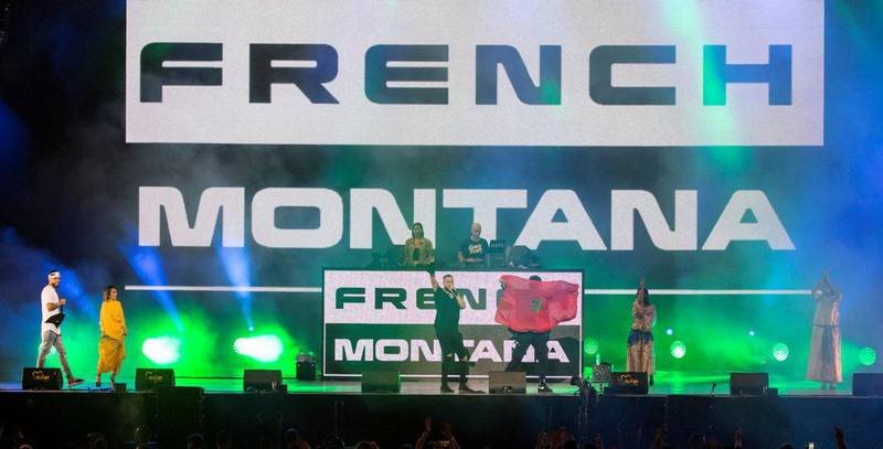 French Montana performs at the Mawazine Festival in Morocco Rabat. Courtesy: Sife El Amine