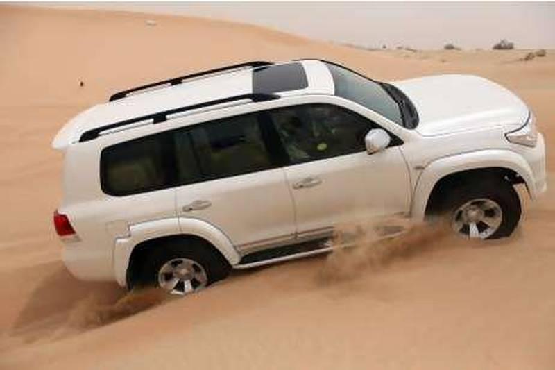 July 26, 2010/ Abu Dhabi /  Toyota Land Cruiser Extreme July 26, 2010. (Sammy Dallal / The National)
