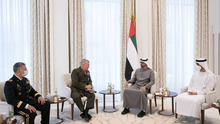 An image that illustrates this article Sheikh Mohamed bin Zayed meets US Gen Kenneth McKenzie