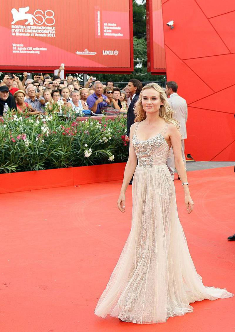 VENICE, ITALY - AUGUST 31:  Actress Diane Kruger attends 'The Ides Of March' premiere during the 68th Venice Film Festival at Palazzo del Cinema on August 31, 2011 in Venice, Italy.  (Photo by Vittorio Zunino Celotto/Getty Images for Lancia)