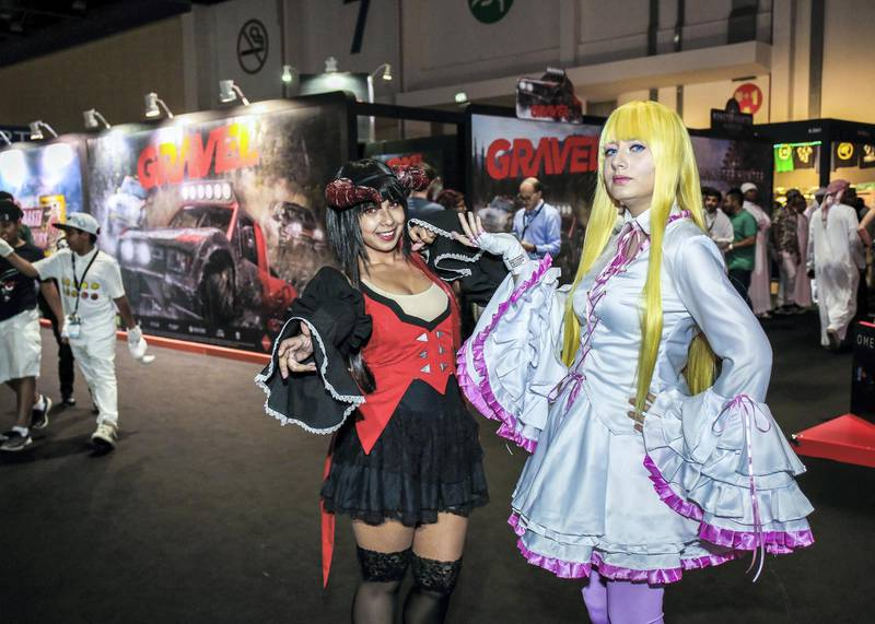 November 24, 2017. Tekken charchters, Eliza and Lili during the Games Con Middle East at ADNEC.Victor Besa for The NationalACRequested by: Clare Dight