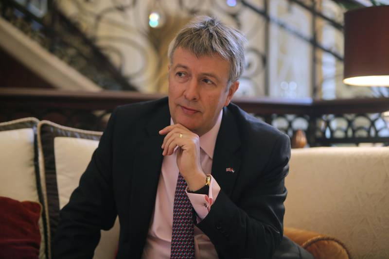 ABU DHABI - UNITED ARAB EMIRATES - 17 MAY 2016 - Richard Oliver, Chairman of the British Business Council, during a Interview yesterday at St Regis Hotel in Abu Dhabi. Ravindranath K / The National (to go with Rosa M. Panadero story for Business) ID: 82178 *** Local Caption ***  RK1705-RichardOliver02.jpg RK1705-RichardOliver02.jpg