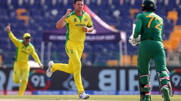 An image that illustrates this article T20 World Cup: Australia open campaign with hard-fought win