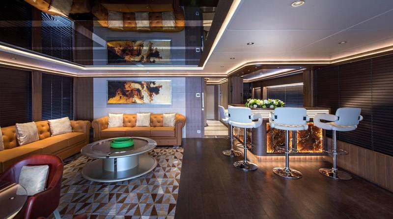 Majesty 140 - Interior - Cigar Lounge. Courtesy: Seven Media
