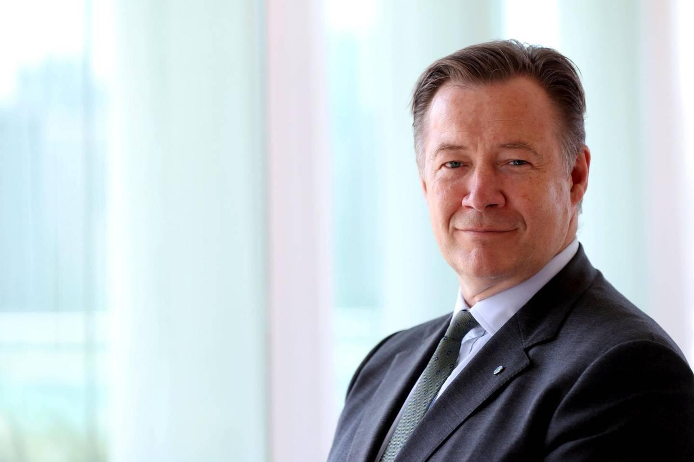 Abu Dhabi, United Arab Emirates - April 30th, 2018: Gary Baker, the Managing Director for EMEA at CFA Institute. Monday, April 30th, 2018 at Rosewood, Abu Dhabi. Chris Whiteoak / The National