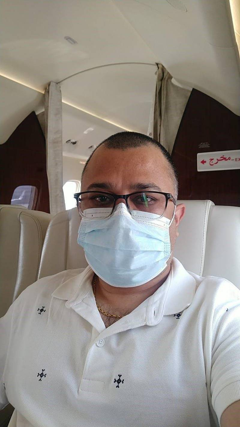 Dr Pawan Agrawal was in Varanasi, northern India, for his father's funeral and was among eight people to return recently to Dubai on a business jet that cost upwards of $43,000. Commercial flights from India have been suspended to guard against a deadly Covid-19 strain. Courtesy: Dr Agrawal