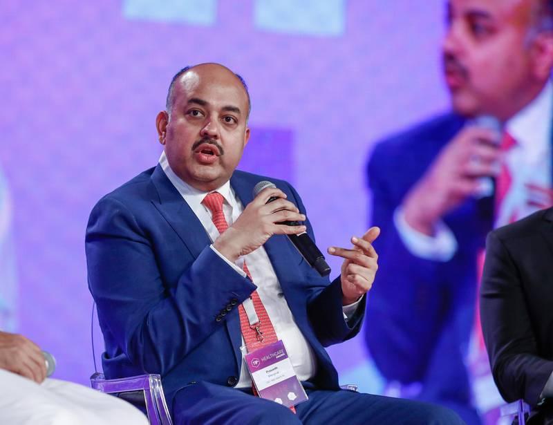 Abu Dhabi, UAE.  May 9, 2018. TIP (Technology Innovation Pioneers) Awards.  Prasanth Manghat - CEO & Exe. Director of NMC HealthcareVictor Besa / The NationalNationalReporter:  Shareena Al Nuwais