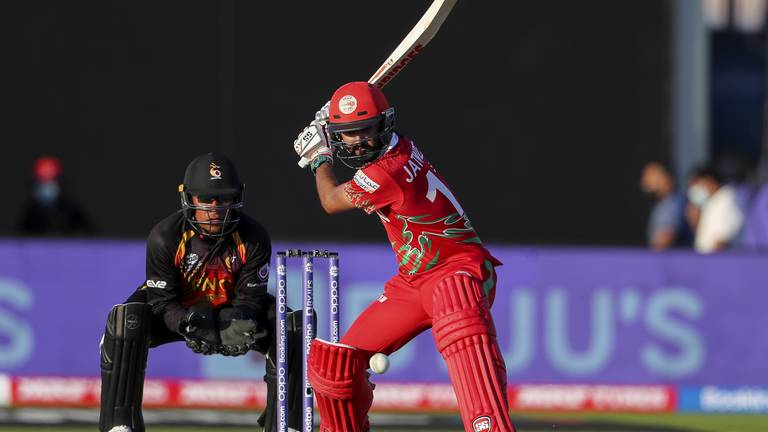 An image that illustrates this article T20 World Cup: Oman throw perfect welcome party