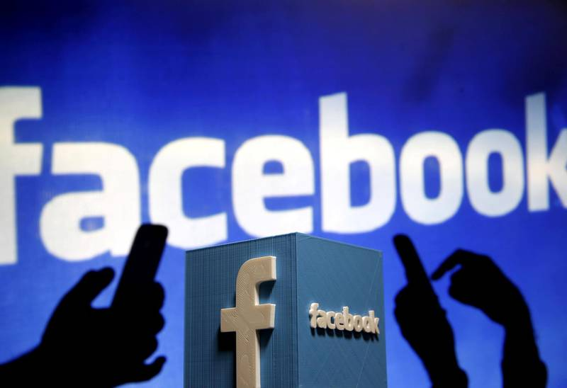 FILE PHOTO: A 3D plastic representation of the Facebook logo is seen in this photo illustration May 13, 2015. To match Analysis INTERNET-POLITICS/ REUTERS/Dado Ruvic/Illustration/File Photo