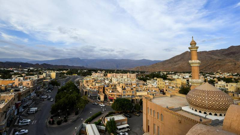 This picture taken on November 29, 2018 shows a view of the city of Nizwa from the walls of the 17th-century fortification of the same name, about 160 kilometres southwest of the capital Muscat. (Photo by GIUSEPPE CACACE / AFP)