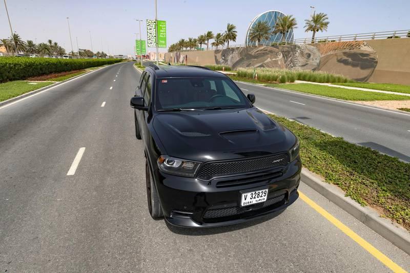 Abu Dhabi, United Arab Emirates - June 5th, 2018: Dodge Durango SRT road test. Tuesday, June 5th, 2018 at Al Raha, Abu Dhabi. Chris Whiteoak / The National