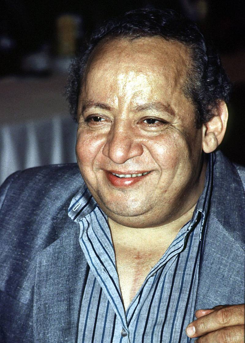 Picture from the mid 90s shows Egyptian cinema and theatre comedian George Sidhom. The popular actor, currently in his sixties and very ill, was one of the comic theatre trio Thulathi Adwaa al-Masrah who achieved pan-Arab fame in the 1960s. (Photo by MOHAMMED AL-SEHITI / AFP)