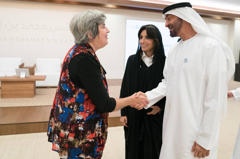 *** GENERAL CAPTION *** ABU DHABI, UNITED ARAB EMIRATES - April 26, 2017: HH Sheikh Mohamed bin Zayed Al Nahyan, Crown Prince of Abu Dhabi and Deputy Supreme Commander of the UAE Armed Forces ( ), visits Burjeel Hospital.   ( Hamad Al Kaabi / Crown Prince Court - Abu Dhabi )
