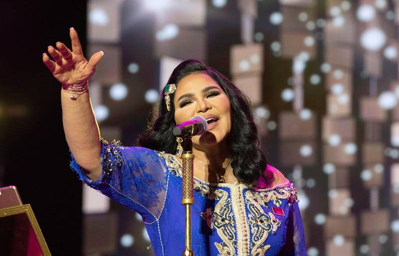 RABAT, MOROCCO - JULY 01: Singer from United Arab Emirates, Ahlam performs during the closing night of the 17th International Mawazine Music Festival in capital Rabat, Morocco on July 01, 2018. (Photo by Jalal Morchidi/Anadolu Agency/Getty Images)