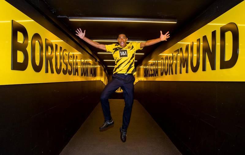 Dienstag 07.07.2020, 1. Fussball - Bundesliga Saison 20/21 - in Dortmund, Jude Bellingham (BVB) besucht Dortmund und das Stadion, Copyright:Borussia Dortmund GmbH & Co. KGaARheinlanddamm 207-20944137 Dortmund