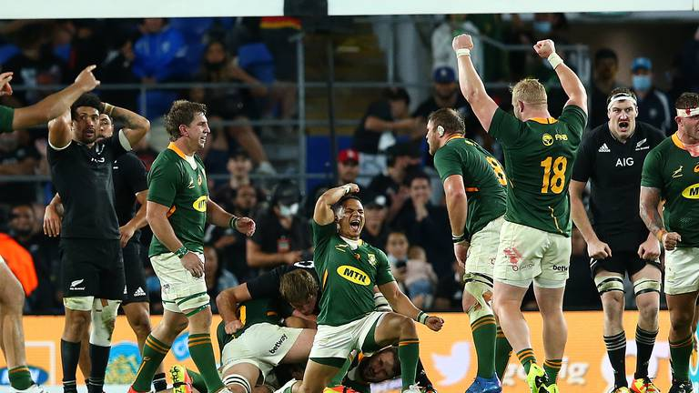 An image that illustrates this article Nienaber hopes for Springboks 'momentum' after last-gasp win over All Blacks