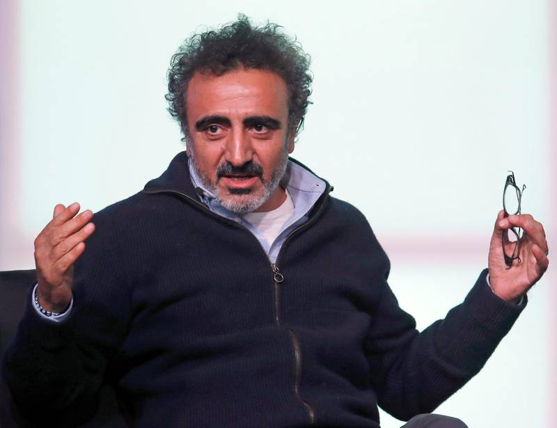 Hamdi Ulukaya, founder of Chobani, speaks at the Obama Foundation Summit in Chicago, Illinois, November 1, 2017. (Photo by Jim Young / AFP)