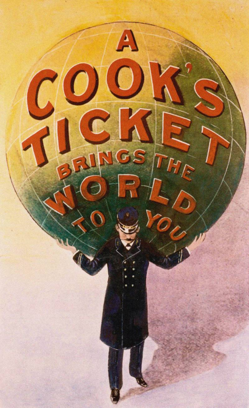 Advertising Poster of the Thomas Cook travel agency. Private Collection. (Photo by Fine Art Images/Heritage Images/Getty Images)