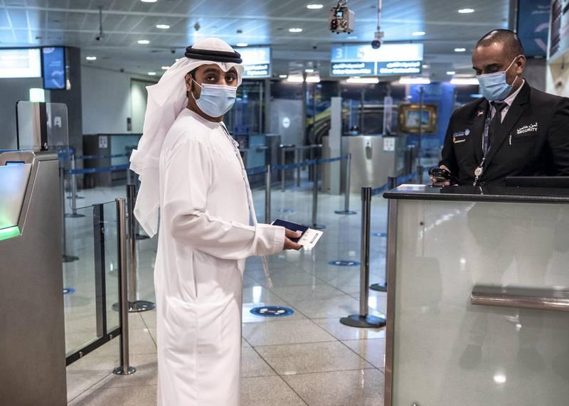 Abu Dhabi, United Arab Emirates, July 8, 2020.   Abu Dhabi International Airport Media Tour by Etihad.Victor Besa  / The NationalSection:  NA Reporter: