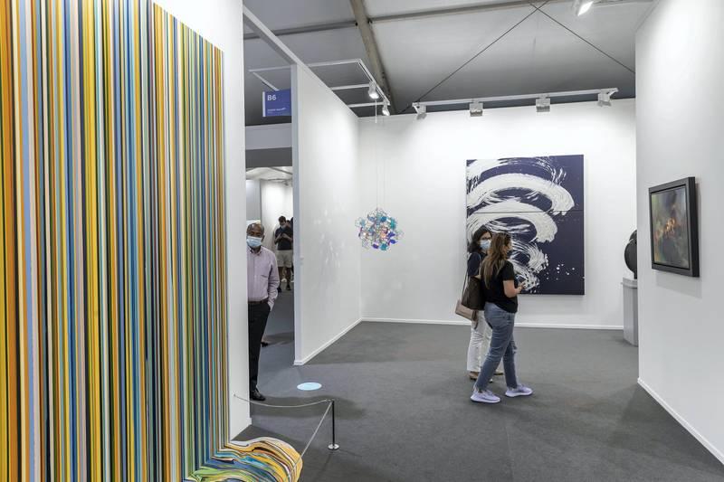 DUBAI, UNITED ARAB EMIRATES. 01 APRIL 2021. Art Dubai 2021 at DIFC. (Photo: Antonie Robertson/The National) Journalist: Amith Passela. Section: Sport.