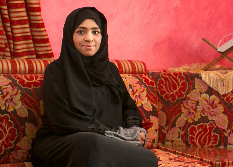 KALBA, UNITED ARAB EMIRATES, APRIL 29, 2015. Nadia Al Barouti  in her living room in Kalba. Photo: Reem Mohammed / The National (Reporter: Ruba Haza / Section: NA) *** Local Caption ***  RM_20150429_KALBA_02.jpg