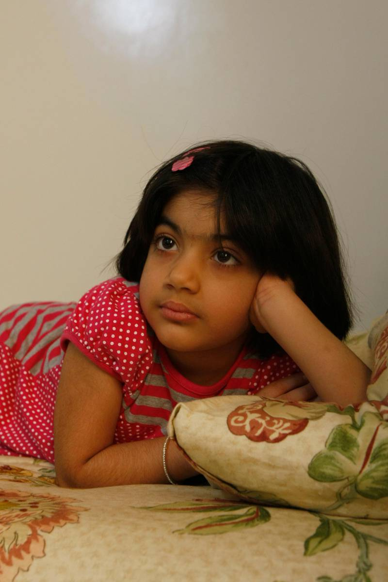 Sharjah, 1st May 2010.  Hajera Abdul Qudoos (6 years old) had a successful kidney transplant in Abu Dhabi.  Held at their residence.  (Jeffrey E Biteng / The National)