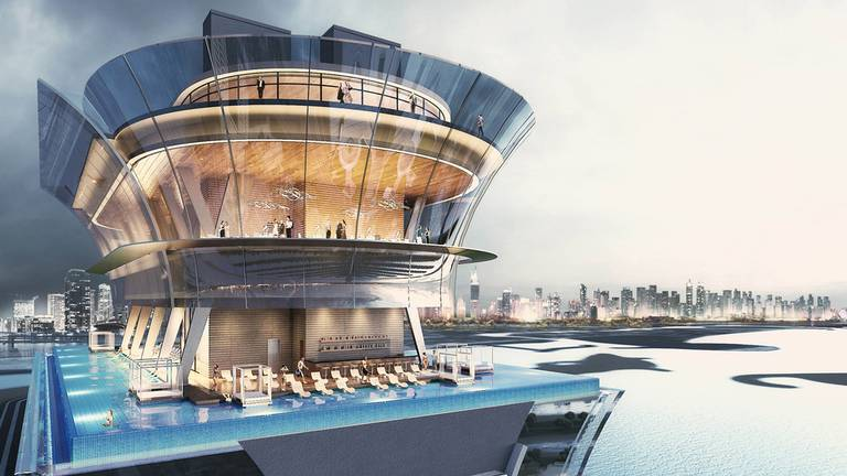 An image that illustrates this article World's first 360-degree infinity pool to open on Dubai's Palm Jumeirah