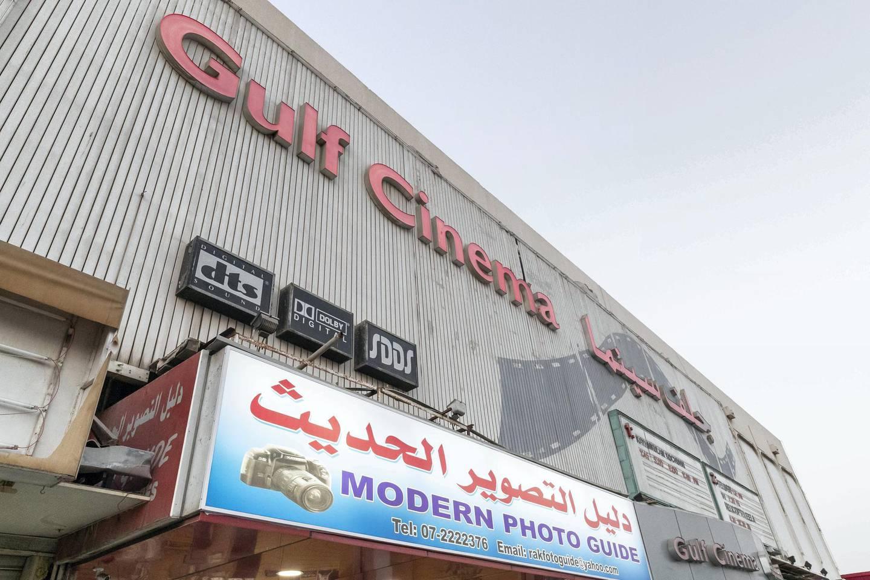 RAS AL KHAIMAH, UNITED ARAB EMIRATES. 14 OCTOBER 2018. Neighbourhood Watch, Al Nakheel old market and Gulf cinema in Ras Al Khaimah city. Gulf Cinema. (Photo: Antonie Robertson/The National) Journalist: Ruba Hazza. Section: National.