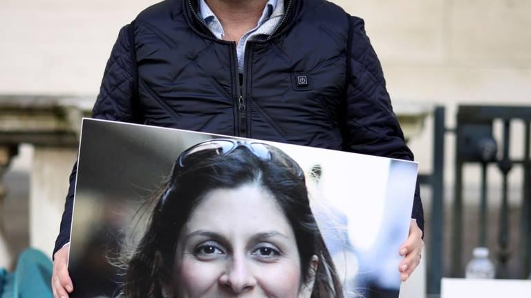 An image that illustrates this article Nazanin Zaghari-Ratcliffe's husband begins hunger strike in London