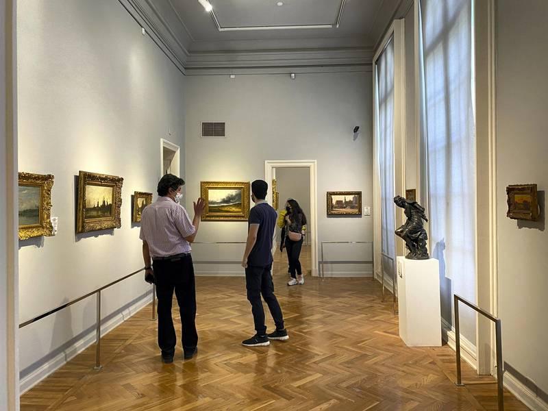 Visitors to Mohamed Mahmoud Khalil Museum. Nada El Sawy / The National