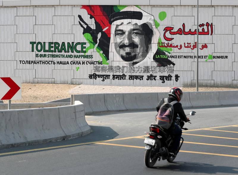 Ajman, United Arab Emirates - Reporter: N/A: Photo project. Street art and graffiti from around the UAE. Monday, January 27th, 2020. Ajman. Chris Whiteoak / The National